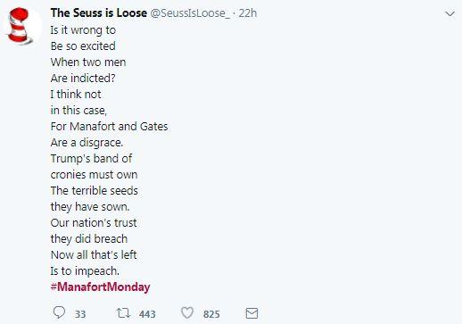 a manafort tweet in seuss rhyme