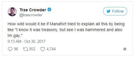 tweet with manafort and spacey