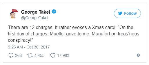 george takei tweet on manafort
