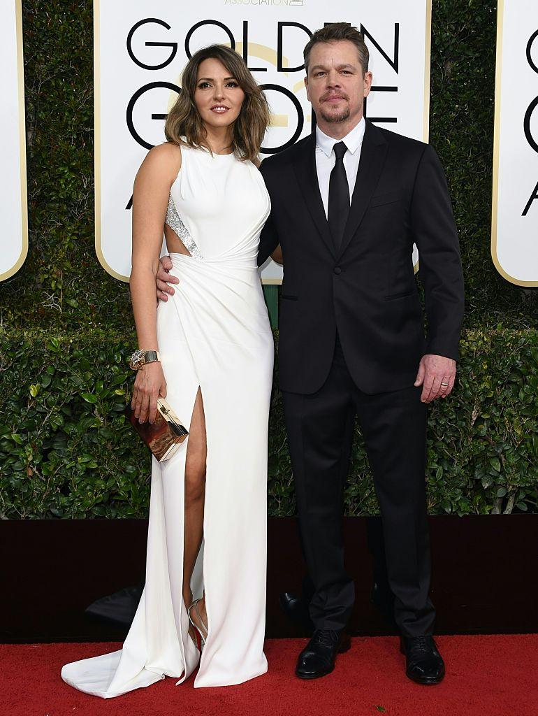 Matt Damon and Luciana Barroso