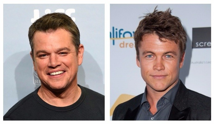 Left: Matt Damon, Right: Luke Hemsworth