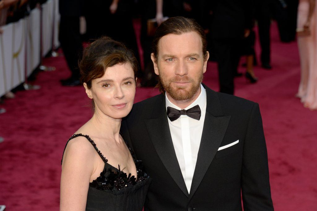 Eve Mavrakis and Ewan McGregor attend the Oscars held at Hollywood & Highland Center on March 2, 2014 in Hollywood, California.
