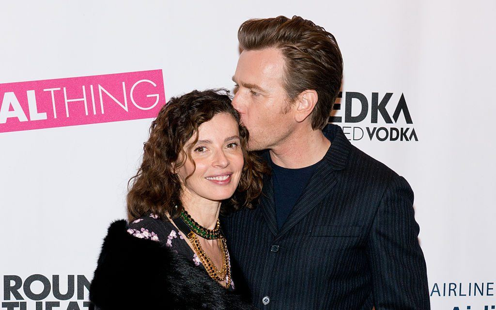 """Ewan McGregor and Eve Mavrakis attend the opening night of """"The Real Thing"""" on Broadway at American Airlines Theatre on October 30, 2014 in New York City."""