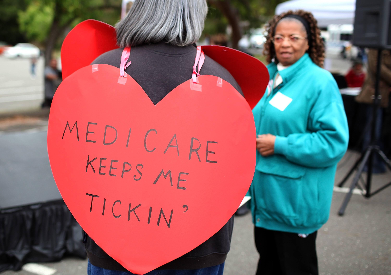Medicare protest