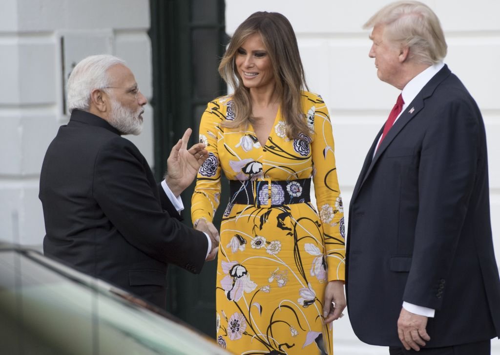 Trumps with Indian prime minister