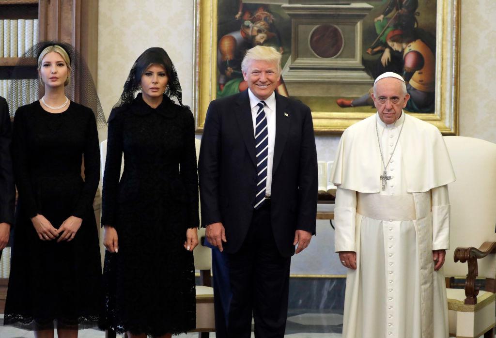 Ivanka Trump, Melania Trump, Donald Trump, Pope Francis