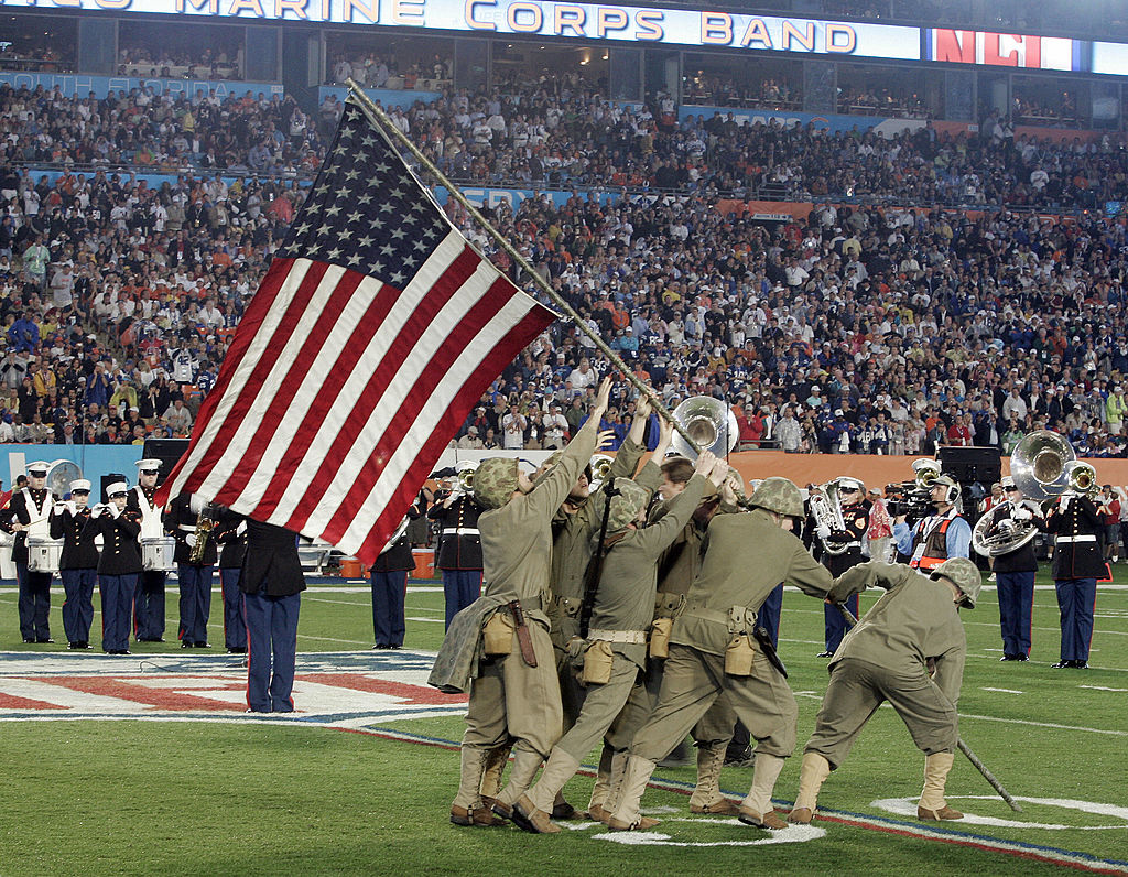 Military at NFL game