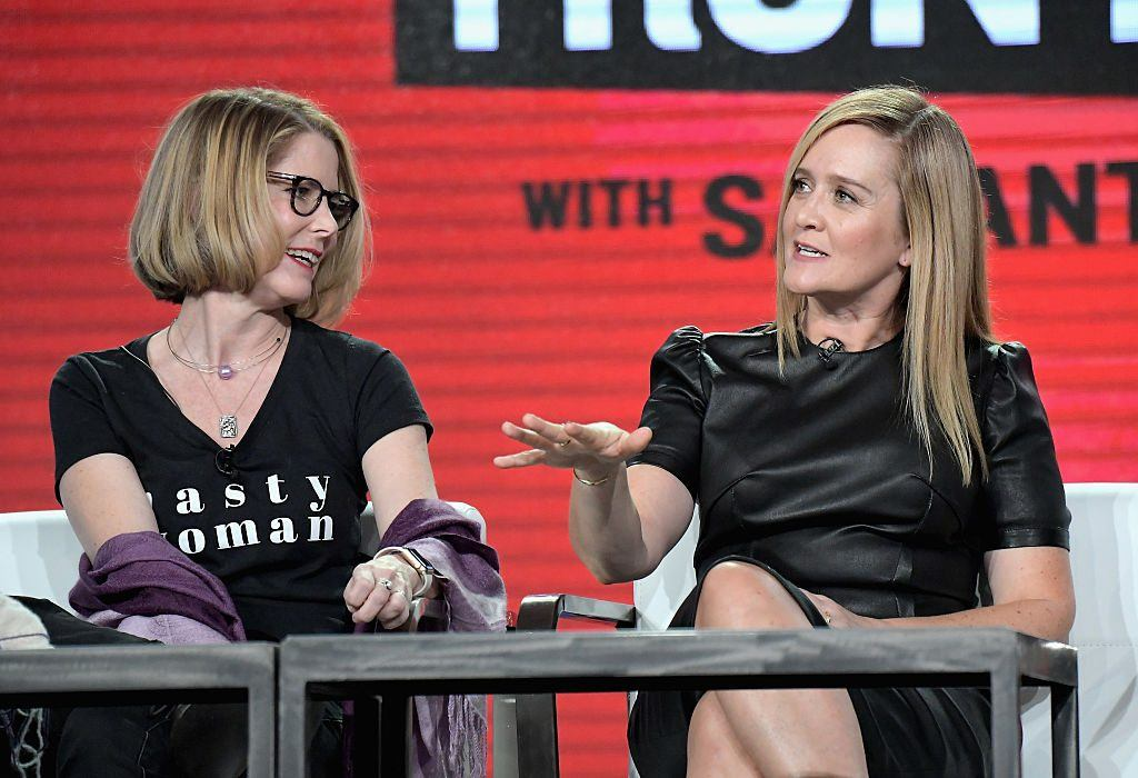 Jo Miller and Samantha Bee at the TCA Turner Winter Press Tour 2017