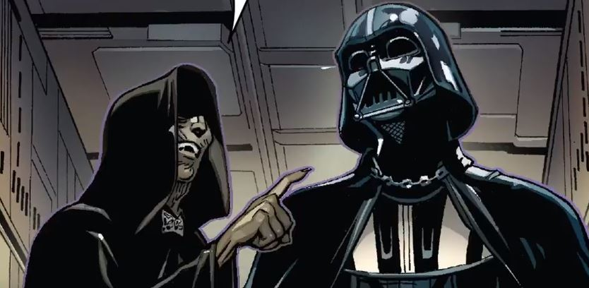 Palpatine sends Darth Vader on his first mission