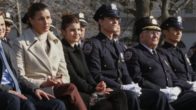Nicky and her family on Blue Bloods