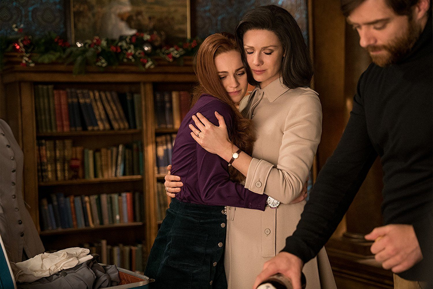 Claire and Brianna embrace