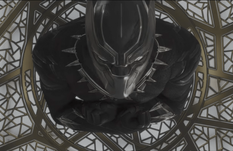 A scene from the new trailer for Black Panther