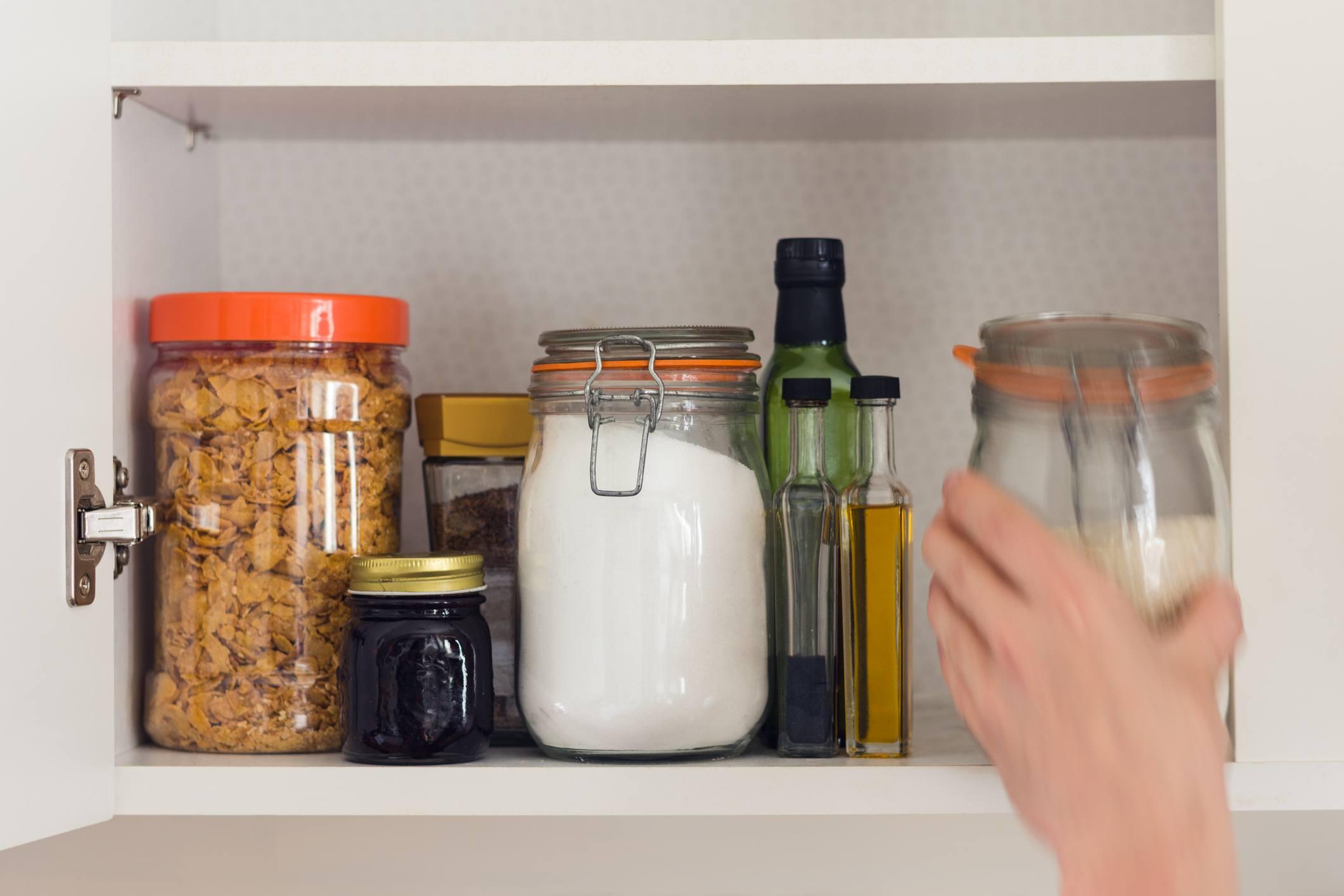 Glass jars pantry
