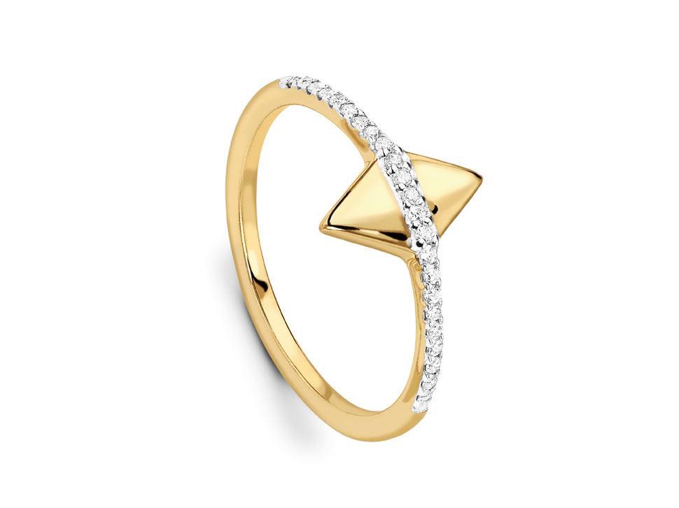 Missoma double arrow ring
