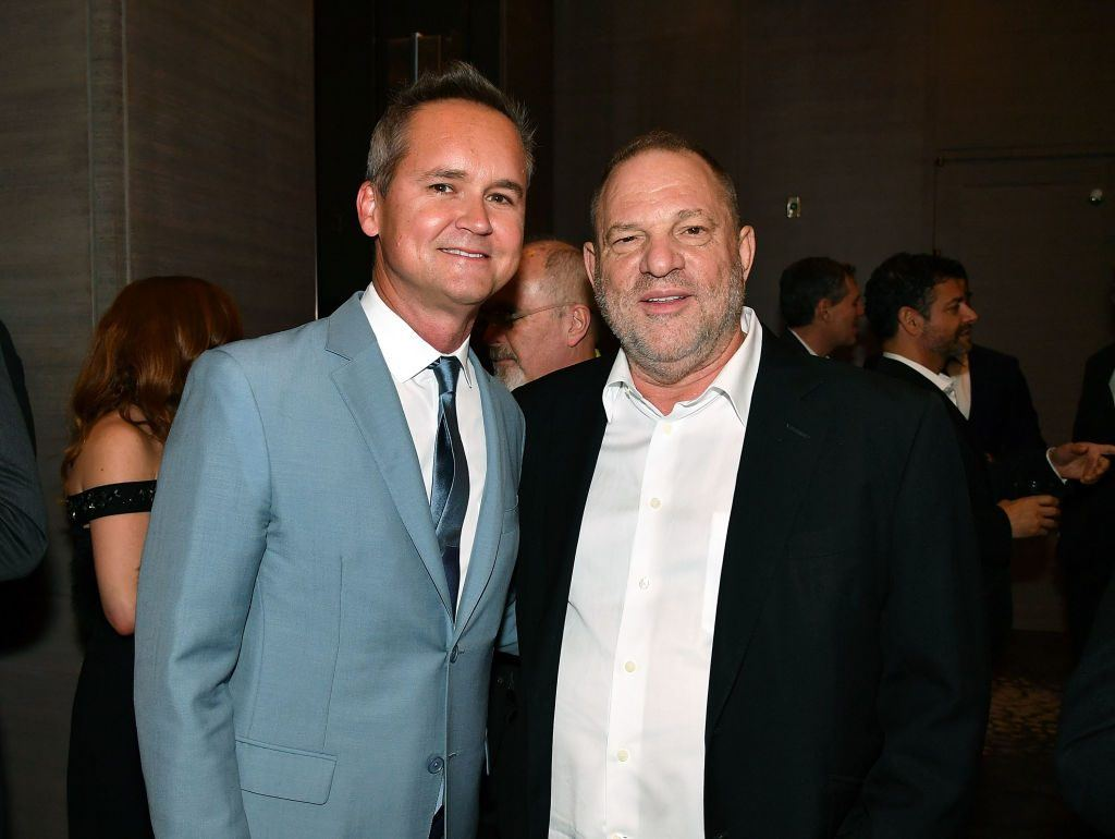 Roy Price and Harvey Weinstein attend Museum of the Moving Image Award for Achievement in Media and Entertainment at Park Hyatt Hotel New York on June 6, 2017 in New York City.