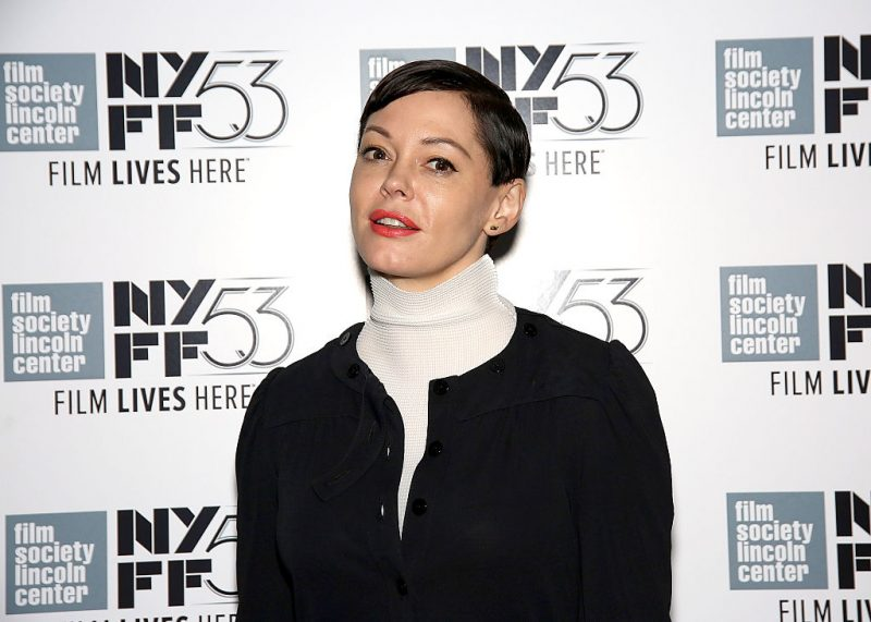 Rose McGowan at the New York Film Festival in 2015