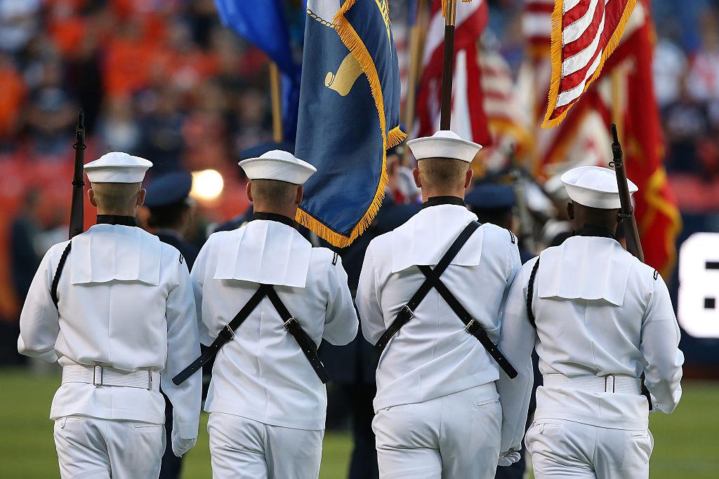 National anthem at NFL game