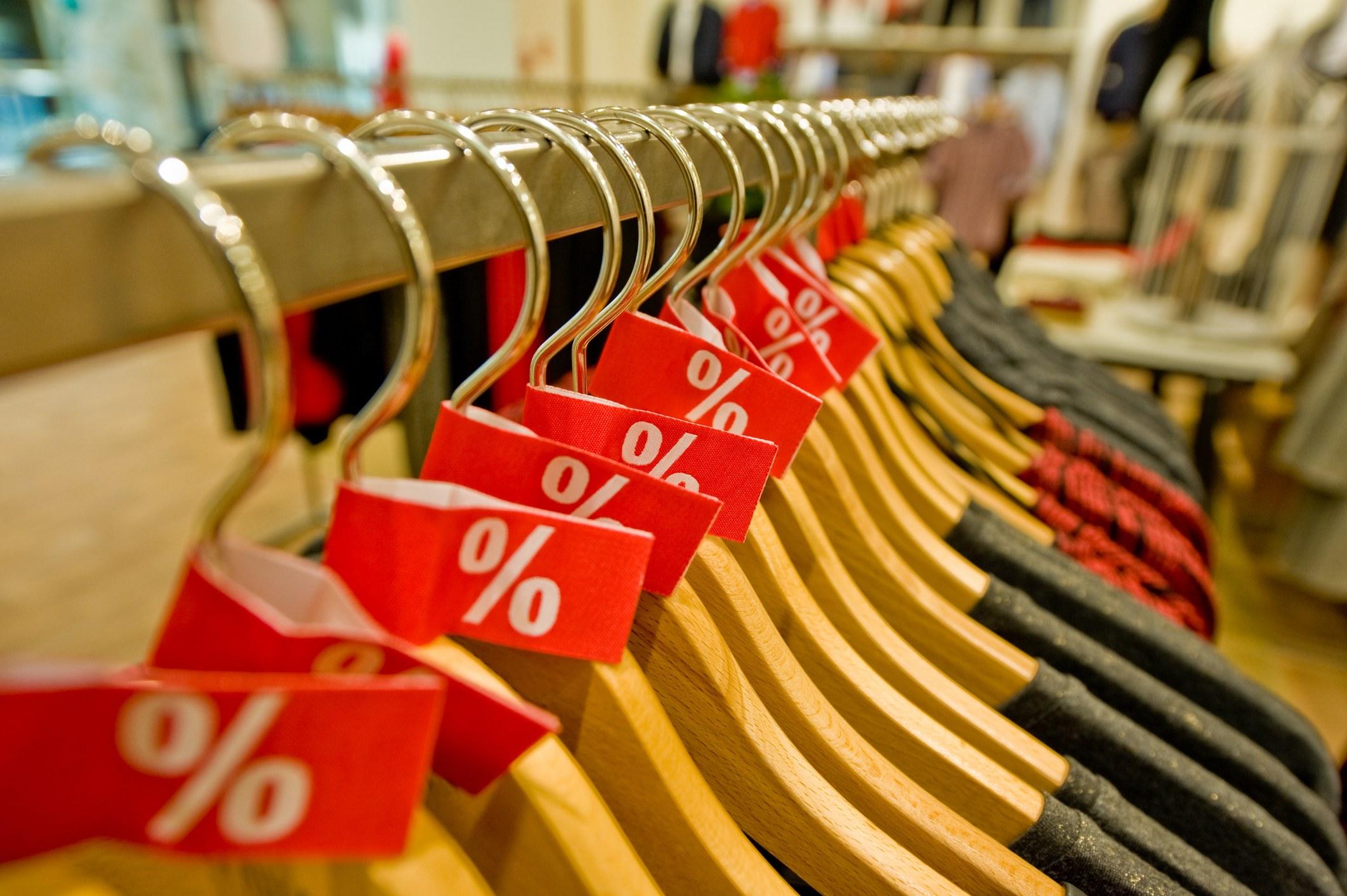 Sales clothing rack