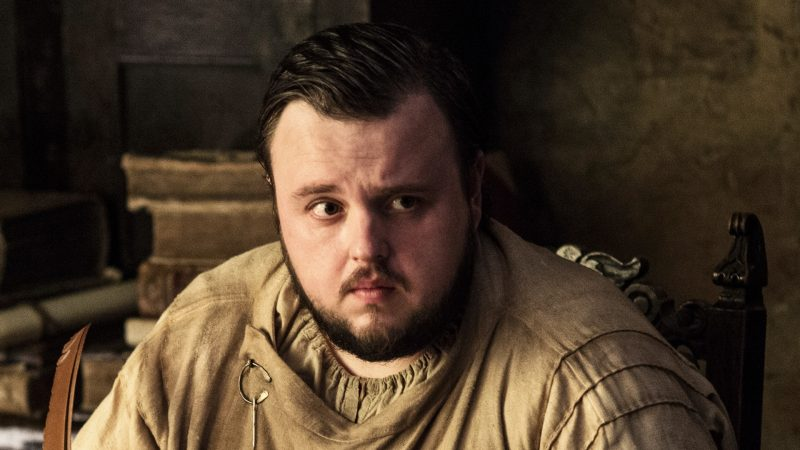 John Bradley as Samwell Tarly on Game of Thrones