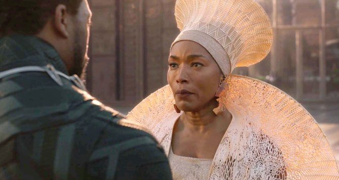 Angela Basset as T'Challa's mother