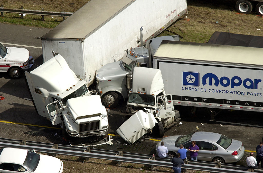 a car accident with a semi-truck