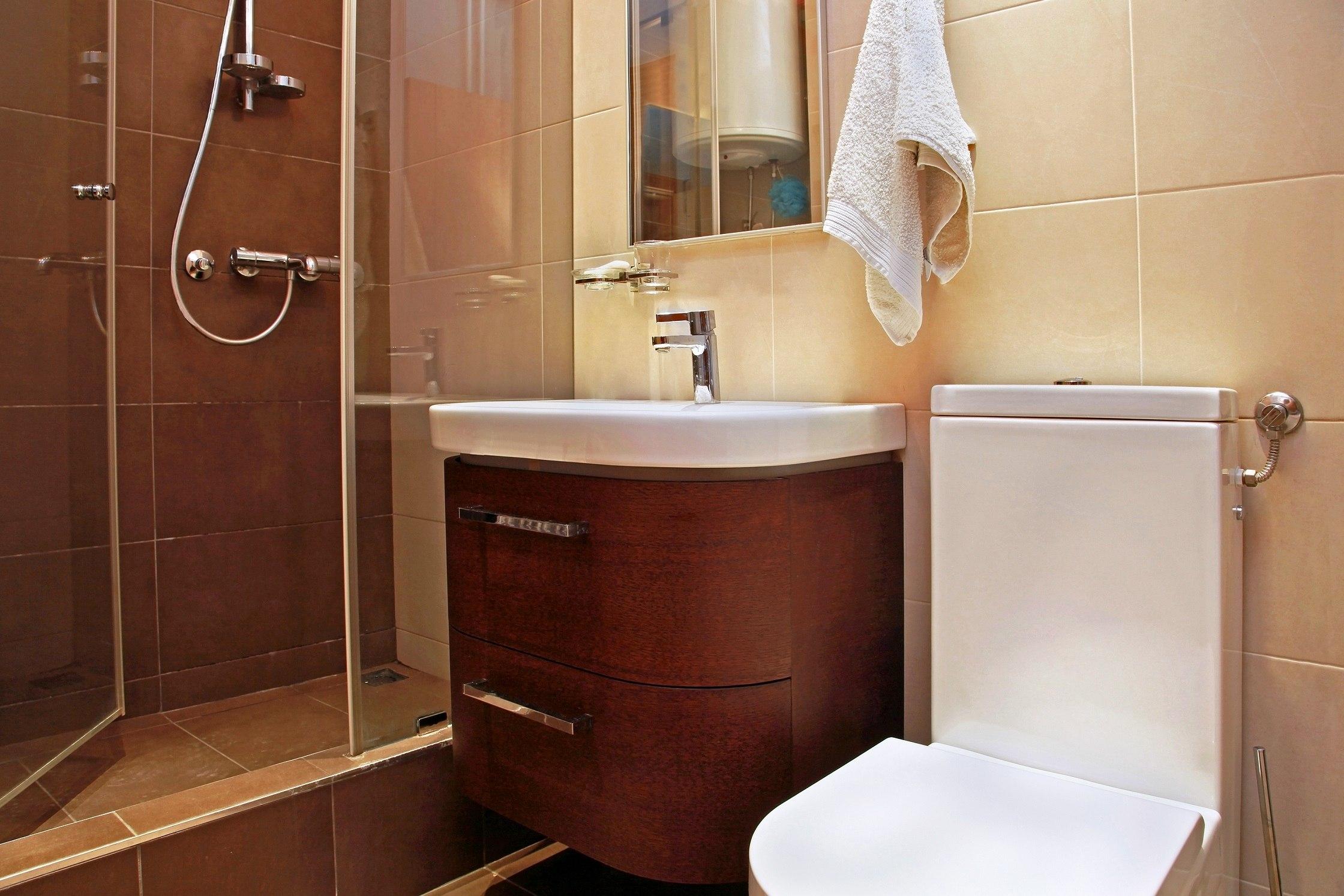 Epic Small modern bathroom