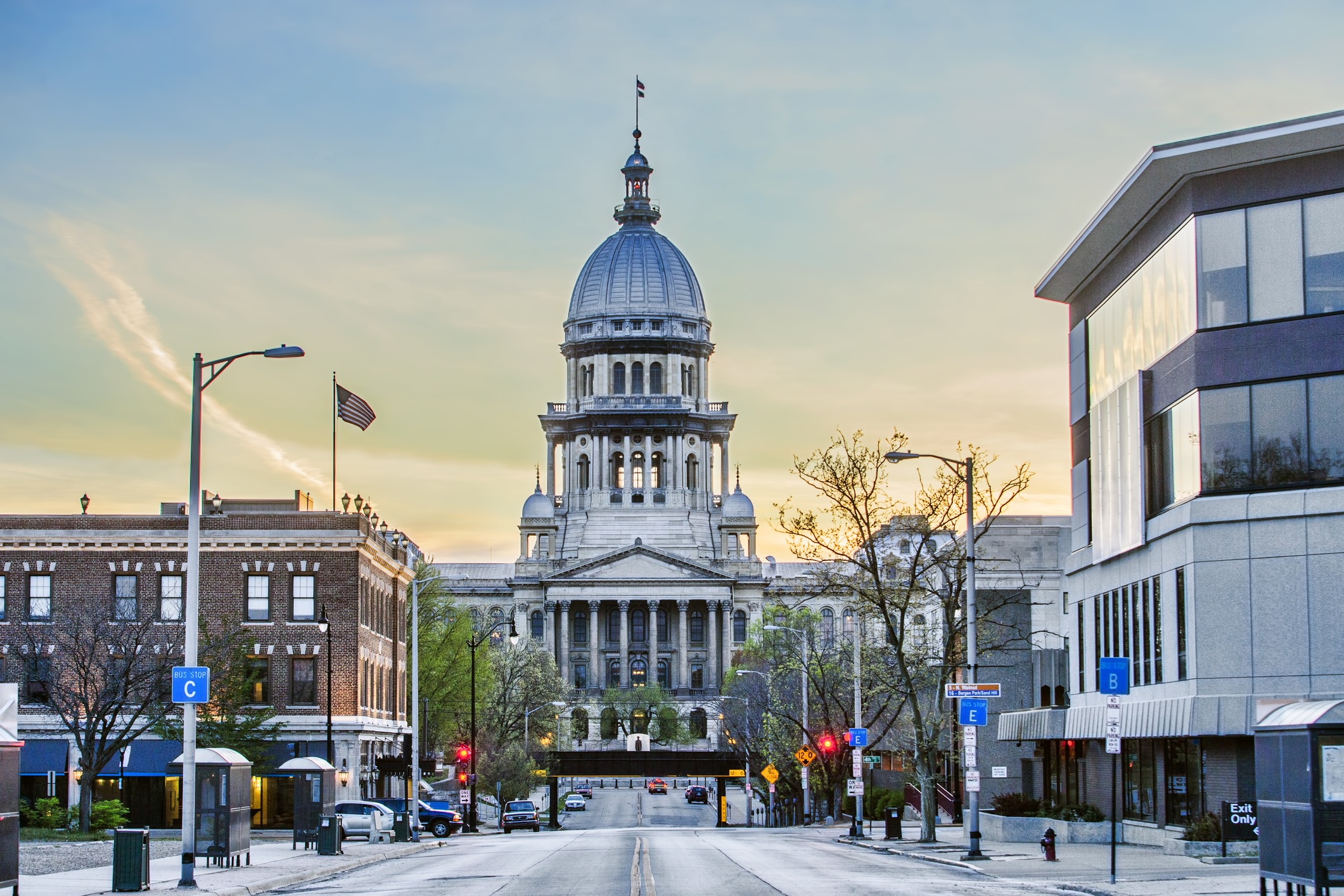 The state capitol building in Springfield, Illinois.