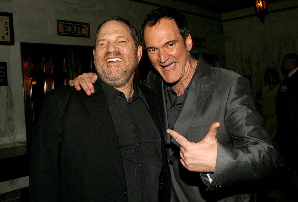 Quentin Tarantino and Harvey Weinstein at the premiere of Grindhouse