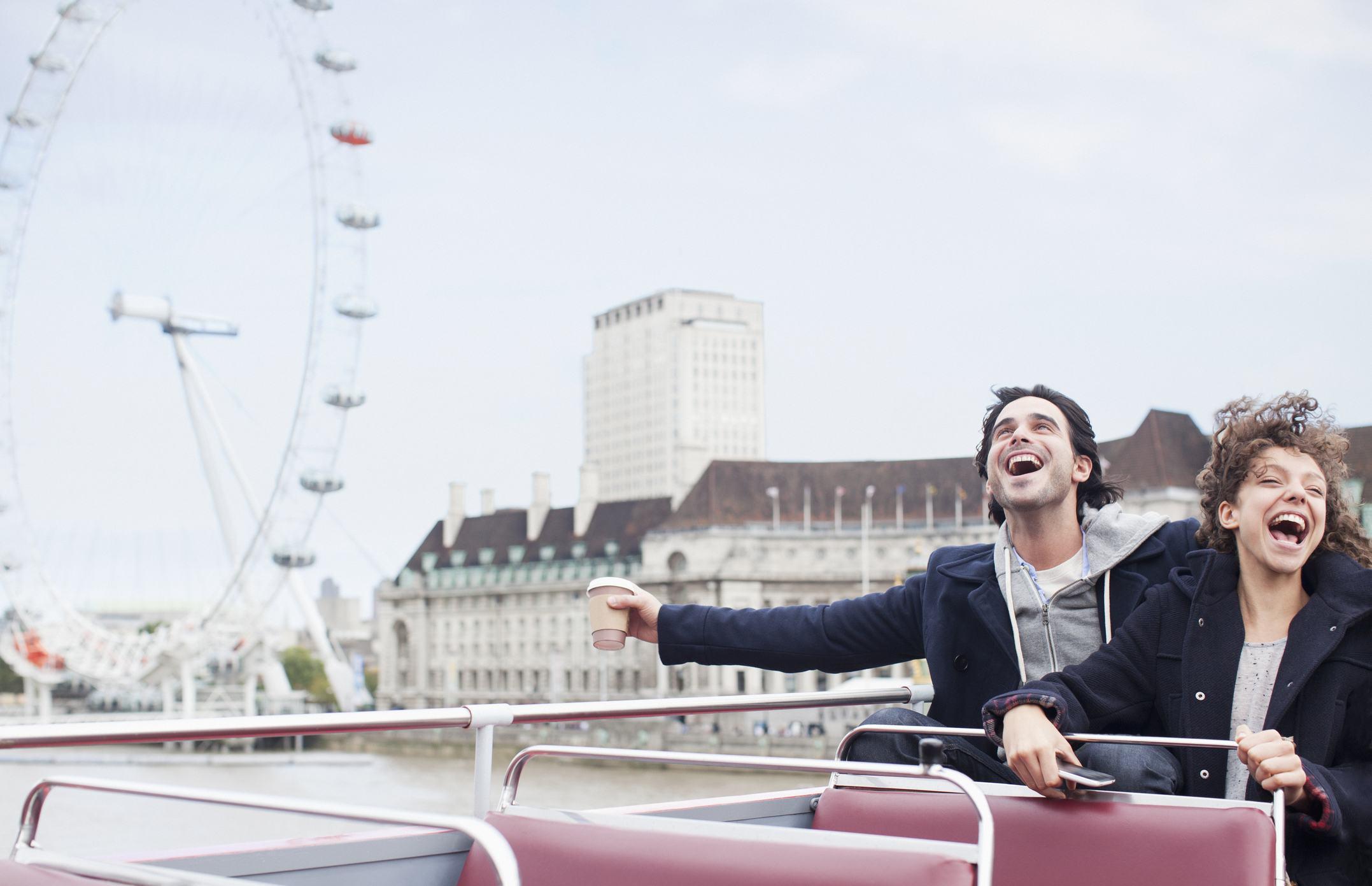Loud couple shouting London