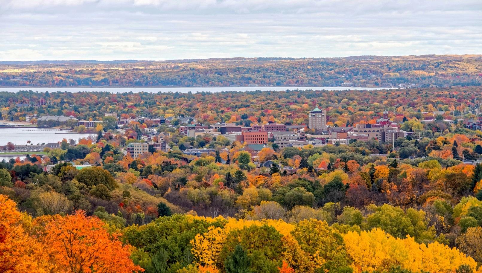 Autumn in Traverse City, Michigan