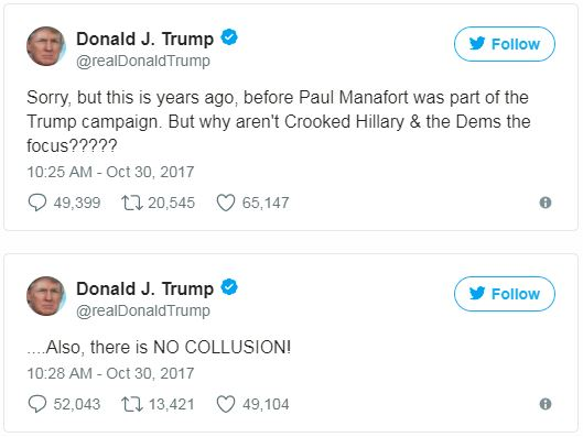 tweets by Donald Trump about manafort