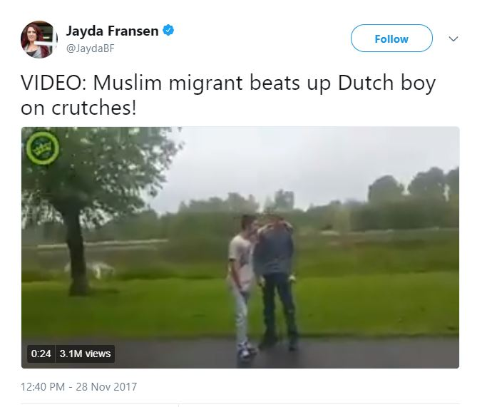 A video that Trump re-tweeted