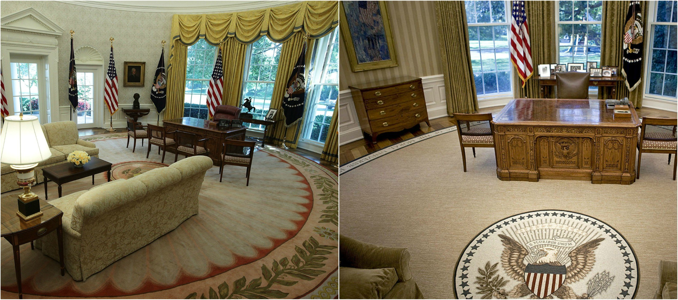 Oval Office Rug This Is The First Thing Donald Trump Changed In The Oval