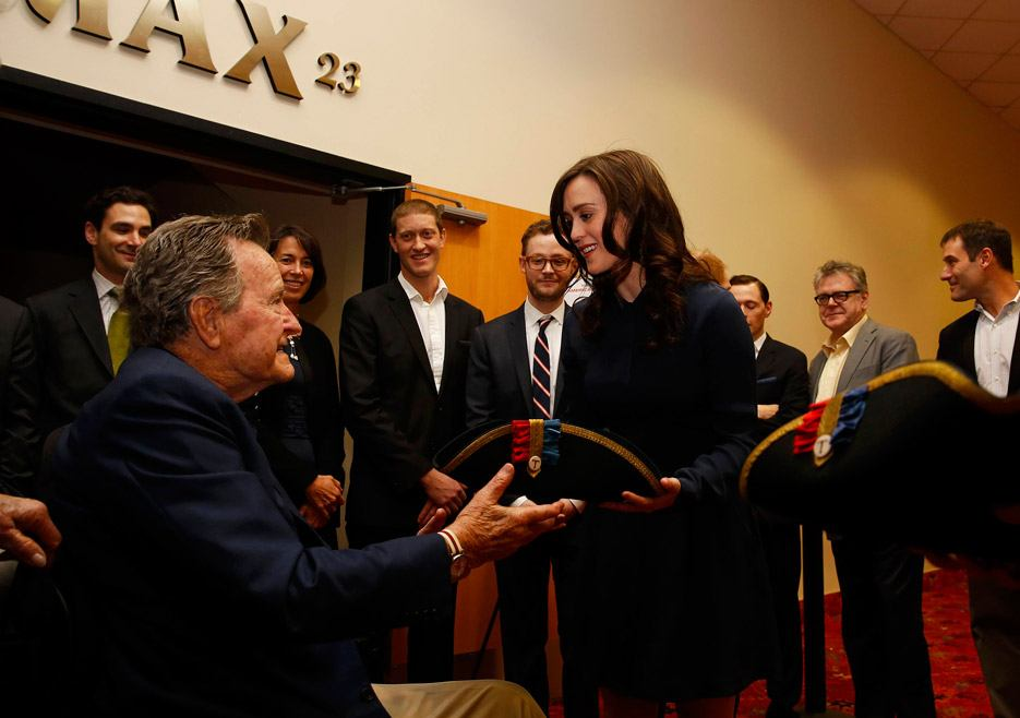 Heather Lind and George H.W. Bush