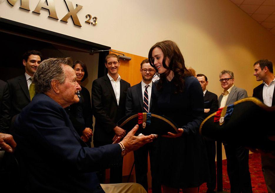 Heather Lind and George H.W. Bush