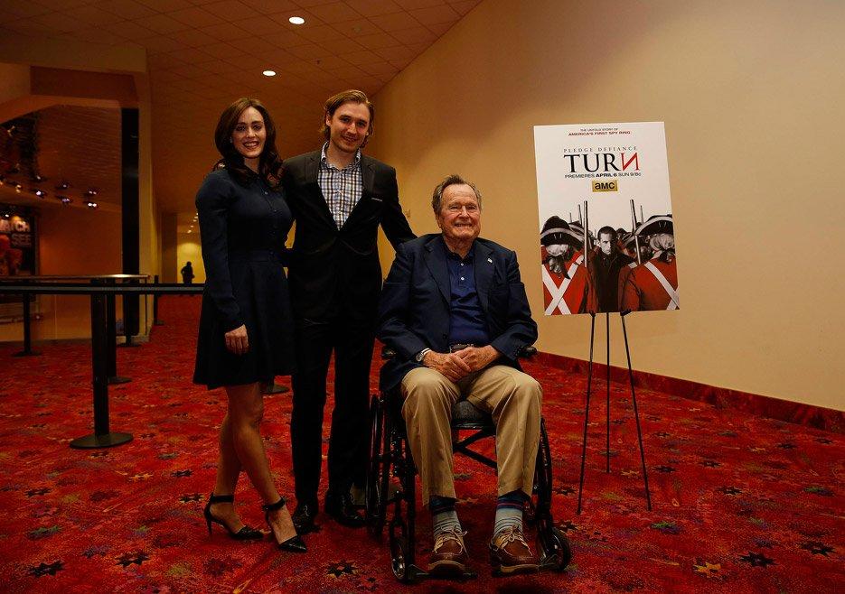 Heather Lind, Seth Numrich and George H.W. Bush