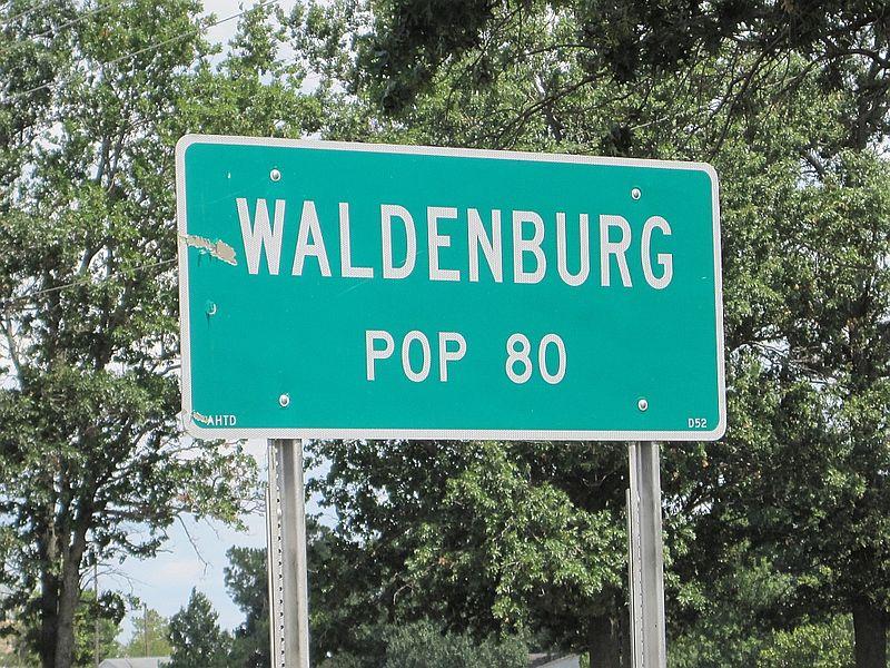 """sign """"Waldenburg pop 80"""""""
