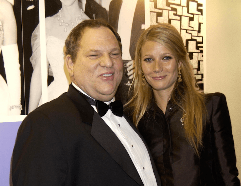 Actress Gwyneth Paltrow and Harvey Weinstein at the 50th Anniversary Gala of the National Film Theatre on October 20, 2002 at The National Film Theatre, in London