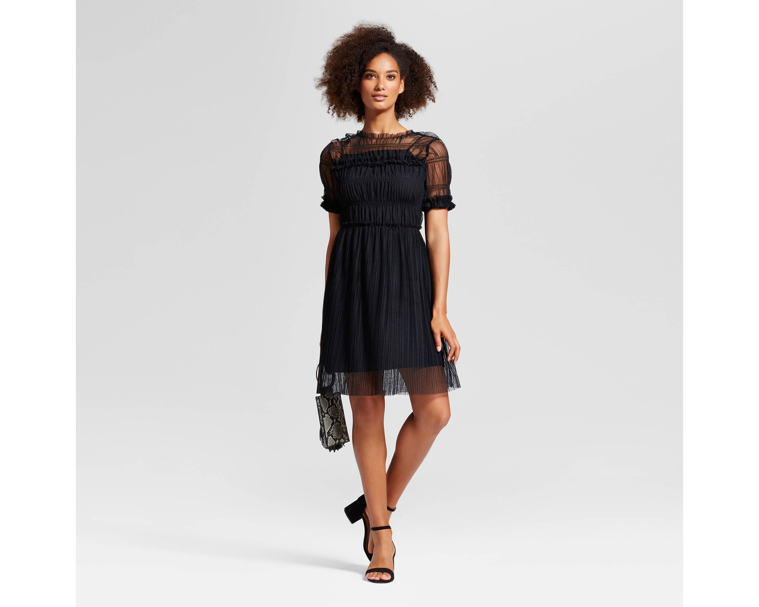 Women's Rouched Mesh Dress - Who What Wear