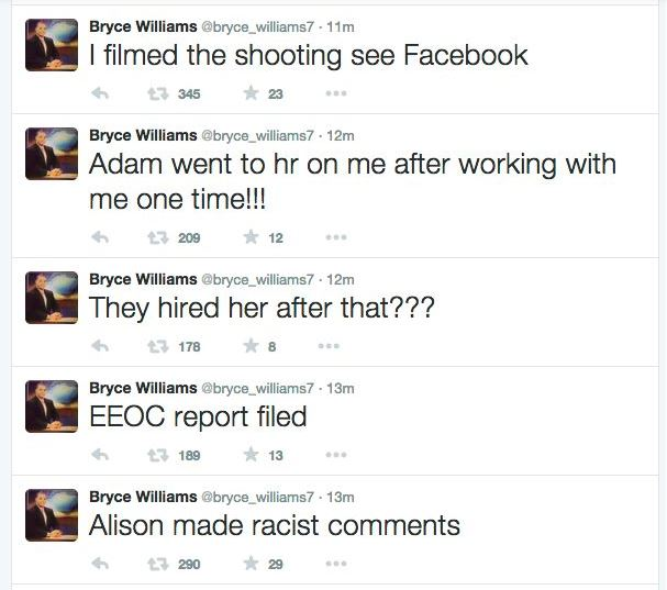 a Twitter stream by Bryce Williams