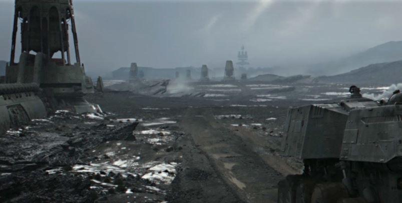 A planet landscape in Star Wars
