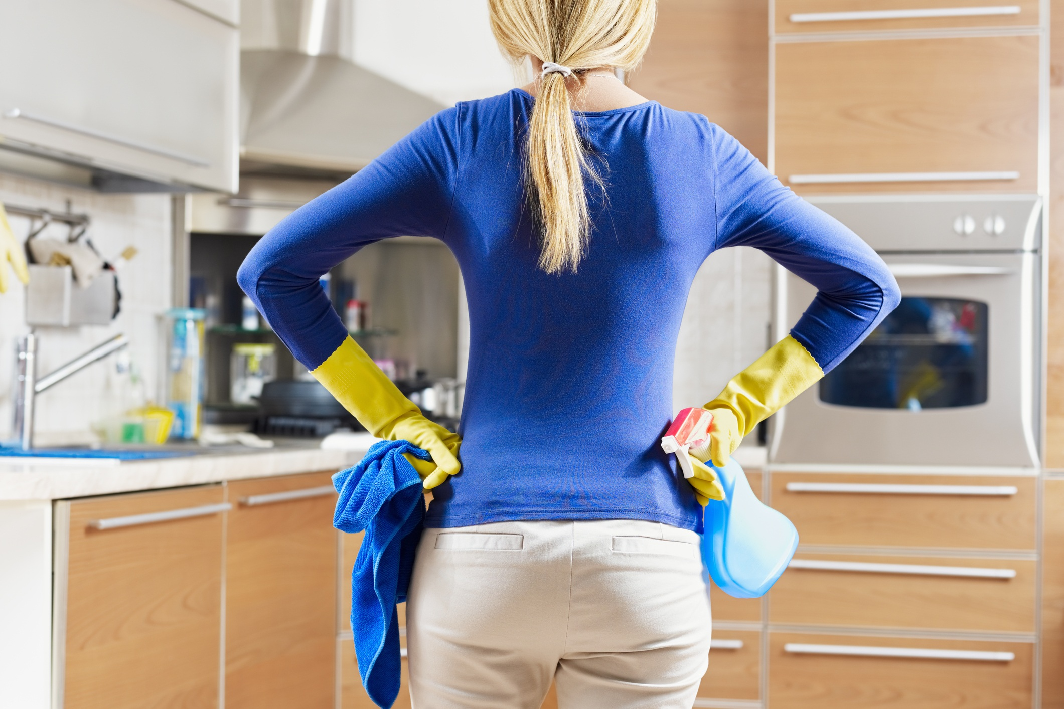 Woman doing houswork