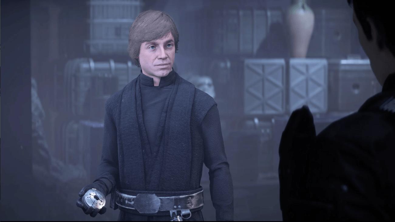 Luke Skywalker stands in Star Wars: Battlefront II