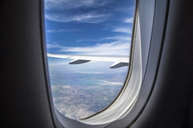 View from airplance window
