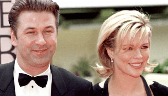 Alec Baldwin and Kim Basinger attend a red carpet together.