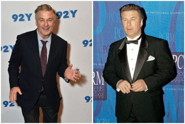 Alec Baldwin weight gain collage.