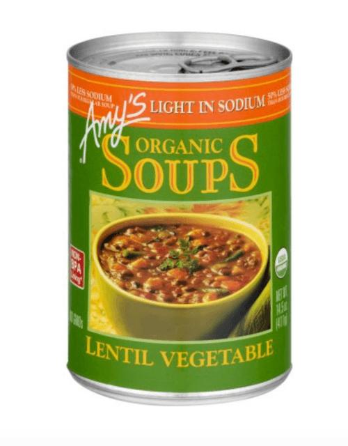 A can of lentil soup.