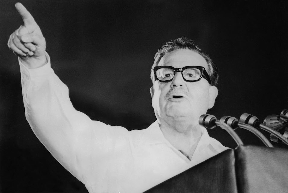 Allende was the first Marxist ever elected president in free elections in 1970