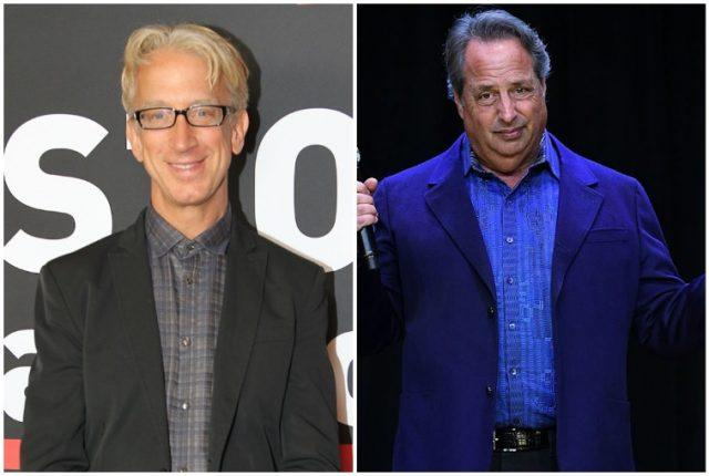 Collage featuring Jon Lovitz and Andy Dick.
