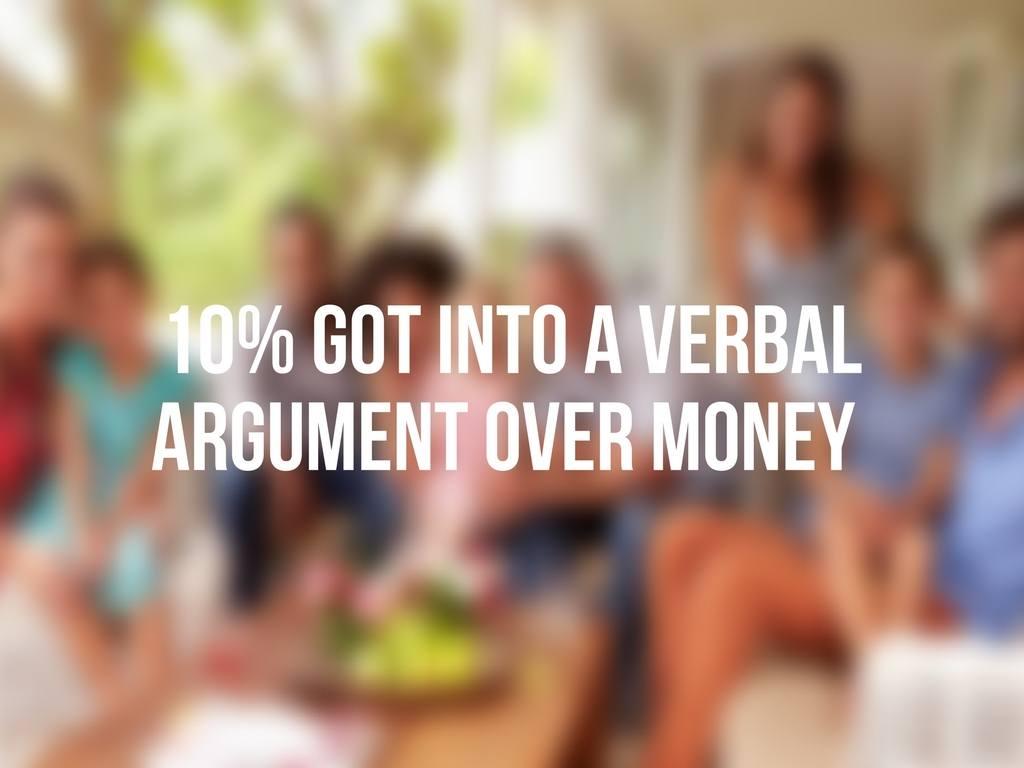 Argument over money